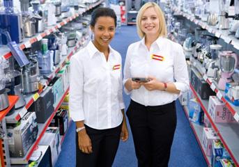 Retail salesperson's resume must show great customer service skills.